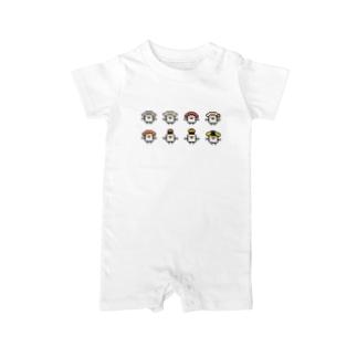 PixelArt スシスッキー8 Baby rompers