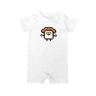 PixelArt スシスッキー サーモン Baby rompers