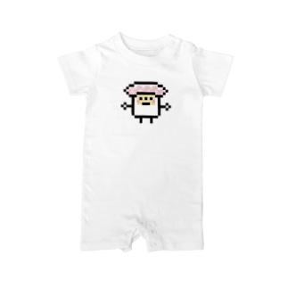 PixelArt スシスッキー ビントロ Baby rompers