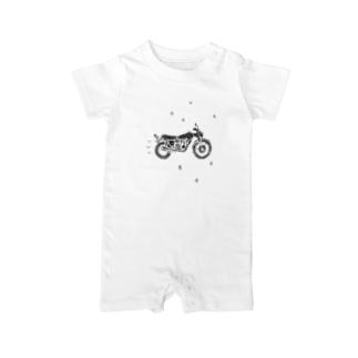 バイクで走り去る Baby rompers