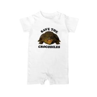 わにシャツ (006) SAVE THE CROCODILES Baby Rompers