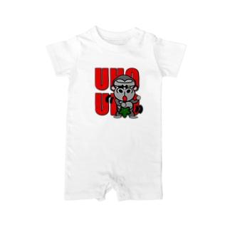 UHOUHOゴリッキー(葉っぱバージョン) Baby rompers