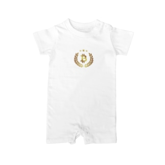 gold BTC Baby rompers