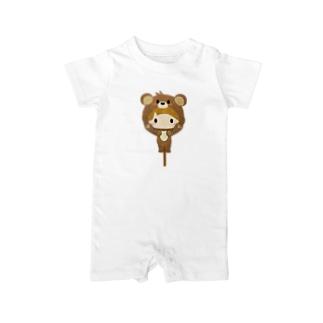 着ぐるみシリーズ(森のくまさん) Baby rompers