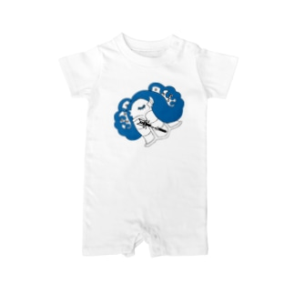 Amiの眠りのアマビエ Baby Rompers