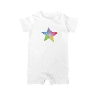 星 Rainbow Star Baby rompers