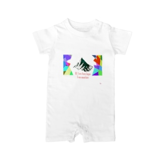 All lives have begun from mountains Baby rompers