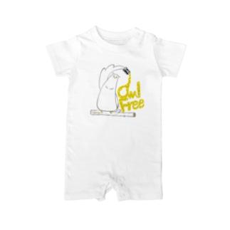 I.gasu owlfree1 【アイガス】 Baby rompers