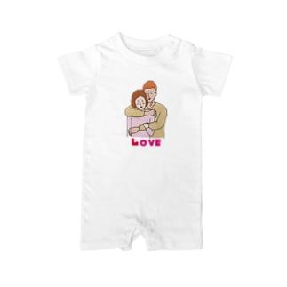 大胸筋LOVE Baby rompers