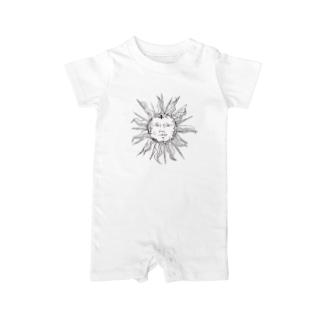 アンティーク太陽 Baby rompers