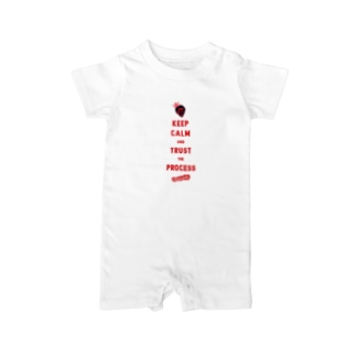 TRUST THE PROCESS -red- Baby rompers