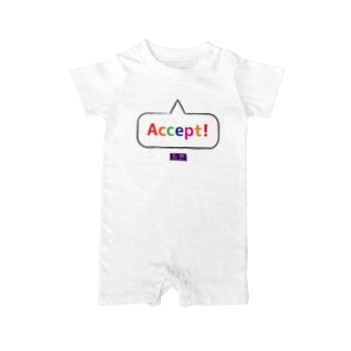 採択・Accept【私費シリーズ】 Baby rompers