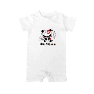おもらしパンダ Baby rompers