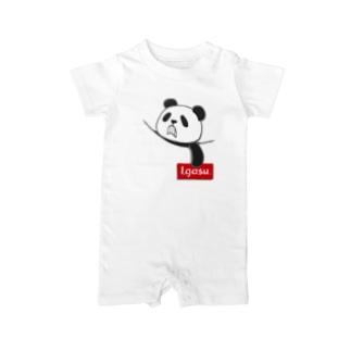 I.gasu pocket panda【アイガス】 Baby rompers