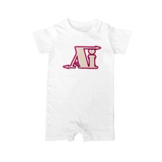 ʚ一ノ瀬 彩 公式 ストアɞの一ノ瀬彩:LOGO_AI_ピンク【英語略】 Baby rompers
