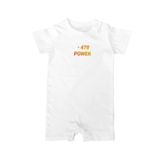 VELL470JapanRoundの・470power Baby rompers