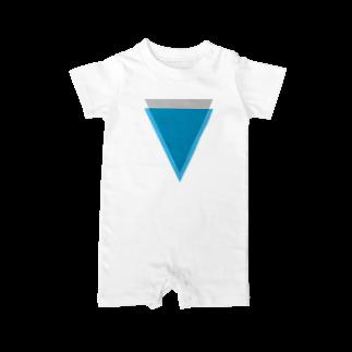 仮想通貨Verge Japan(バージ ジャパン) 公認SHOPのVerge(バージ)ロゴ Baby rompers
