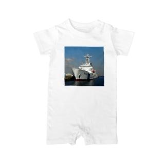 """海上保安庁:PLH32あきつしま Japan Coast Guard Ship """"Akitsushima"""" Baby rompers"""