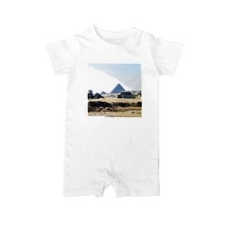 古代エジプト:砂漠に聳えるピラミッド Pyramid/Egypt Baby rompers