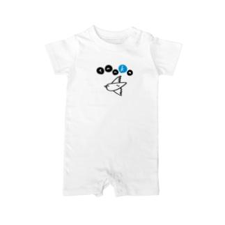 tanka/とり(シンプル) Baby rompers