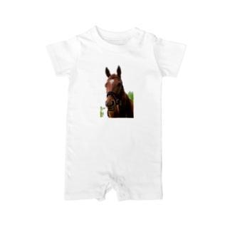 牧場 乗馬 馬術の馬 Baby Rompers