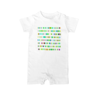 Color Bars Baby rompers