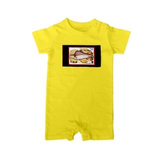 カラフトマス!中標津(PINK SALMON;北海道)生命たちへ感謝をささげます。※価格は予告なく改定される場合がございます。 Baby rompers