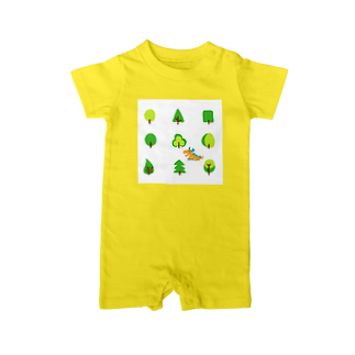 zentoyのwoods and dragon Baby rompers