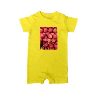 リンゴふぇすてぃばる Baby rompers