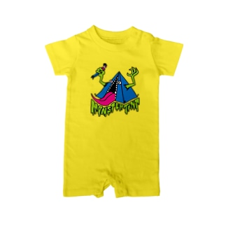 MONSTER TENT 総天然色 Baby rompers