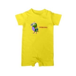 ROBOBO アオボウシインコ Baby rompers