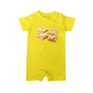 egg sandwich Baby rompers