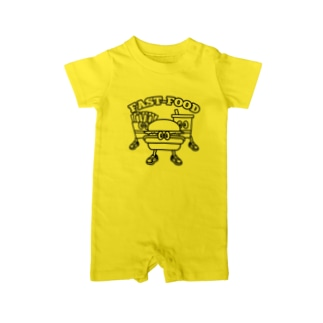 Candy Candyのfastfood_bros Baby rompers