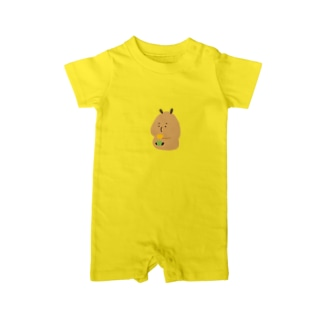 Pokke Yellow tulip Baby Rompers