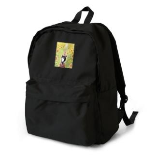 ひまわり畑のクロ Backpack