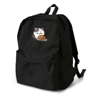 感情豊かなくろぶちにゃんこ ホットケーキver. Backpack