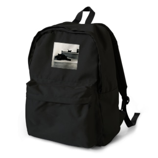 黒猫ちゃんのつどい モノクロ Backpack
