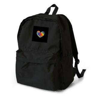 虹×ハート×虹(ブラック) Backpack