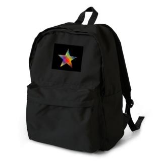虹×スター×虹(ブラック) Backpack