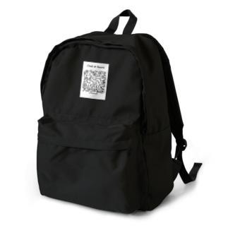 猫と花 Backpack