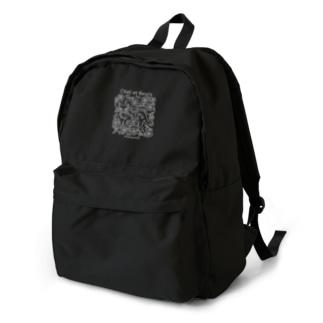 猫と花(白) Backpack