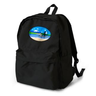 ボーダーコリーとSUP Backpack