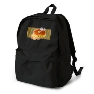にゃんこ&食《くるみパン》しましまB Backpack