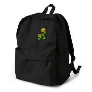 風に揺れる向日葵 Backpack