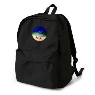 本栖湖の富士山と星 Backpack
