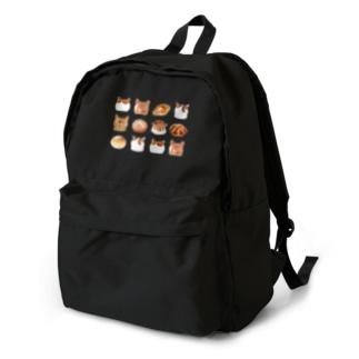 ねこあたまコレクション茶白後頭部とパン Backpack