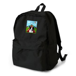 テントの中からどんちゃん Backpack