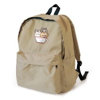ネコがいっぱいティーカップ Backpack