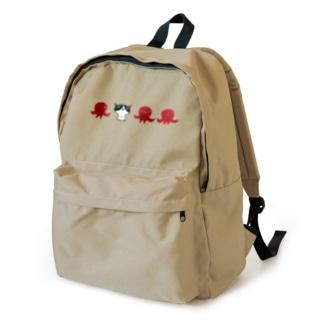陶器絵ハチワレ猫とタコ Backpack