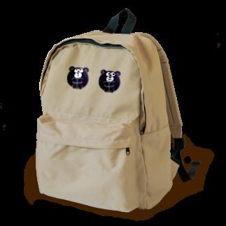 ギュっくま_black Backpack
